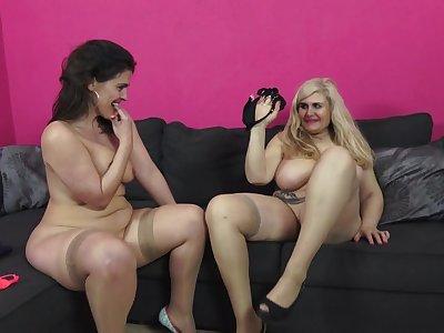 Spanish Housewives Montse Swinger And Musa Libertina Having A Triplet - MatureNL