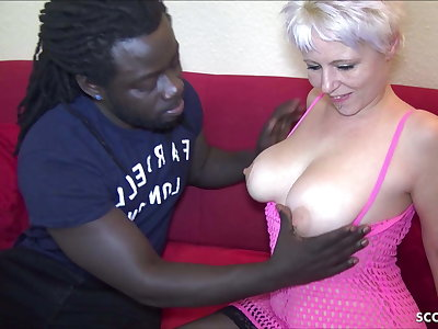 GERMAN MOM book BLACK CALLBOY with MONSTER COCK to FUCK her