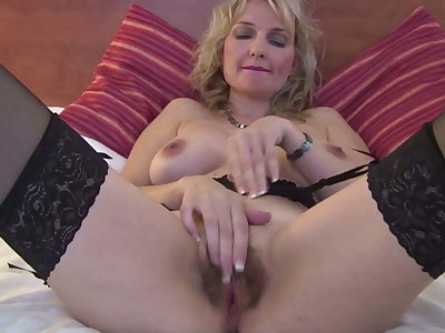 Sweet mature mother with hot body and bushy pussy