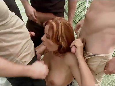 Sexy Latina Milf Gang Bang