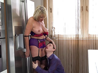 Milf Amy enjoys young meat into her greedy holes