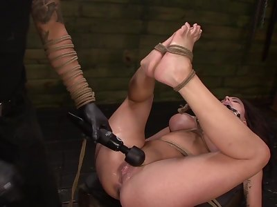 Throating female slave treated by her master far brutality