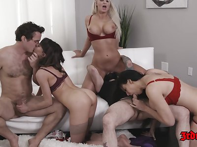 Licentious MILF Cougars Group Hardcore