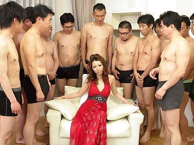 Nagisa Kazami in Nagisa Kazami is fucked by so personal cocks in a gangbang - AvidolZ