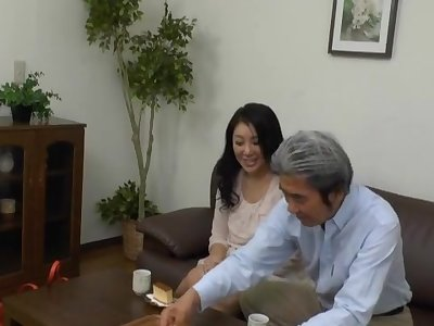 Japanese MILF gets her cunt dildoed at the end of one's tether a businessman