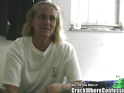 Old Lady Hooker Loves Crack with an increment of BJ