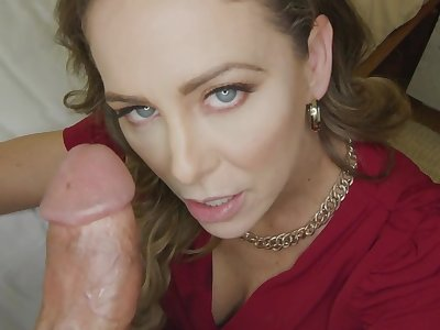 Cherie Deville gets creampied with the addition of stuffed with big penis