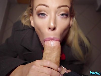 Erik Everhard & Isabella Deltore in Blonde Ozzie fucks suited for the undercover - FakeHub