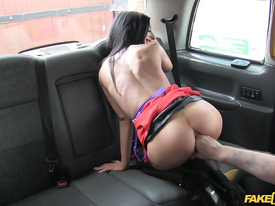 Outing foreign work with the fake taxi takes a sexual turn