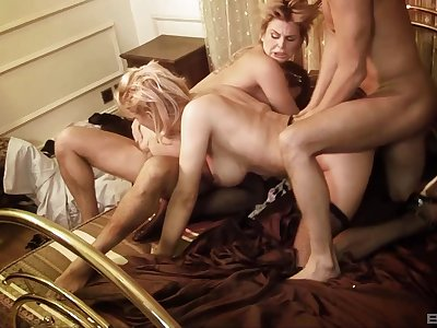 First time these wives are swapping partners for a wild anal shag