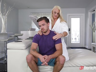 Hot mommy wants to please her step son almost sex