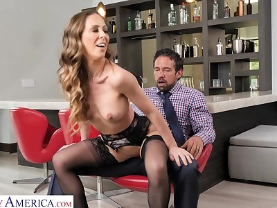 nasty MILF Cherie Deville rides thick dick