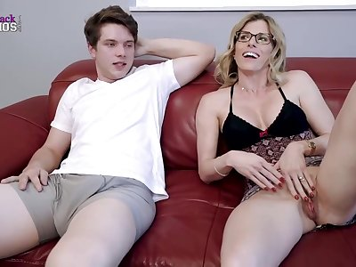 Horny bazaar mommy, Cory Chase is about relative to have steamy sex with will not hear of step- son