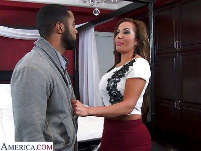 Order about sexy realtor with massive tits Richelle Ryan bangs young swarthy guy