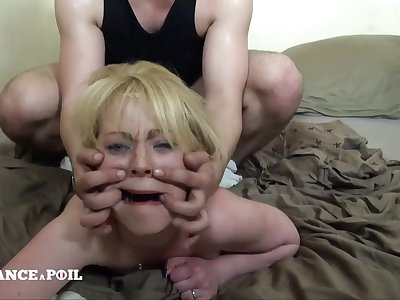 Greedy Blondie Mom With Unshaved Pussy