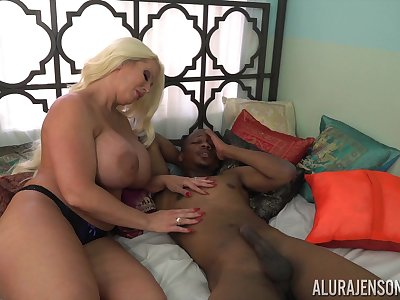Tall licentious cock slayer Alura Jenson loves interracial fuck