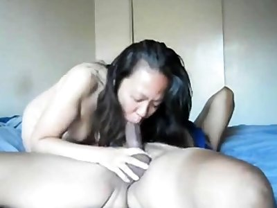 Hot asian neighbor can't get proper