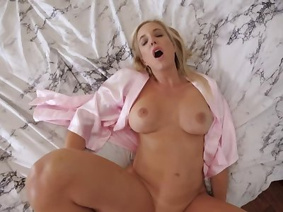 Amazing beauteous cock teaser receives a big pecker in the bedroom