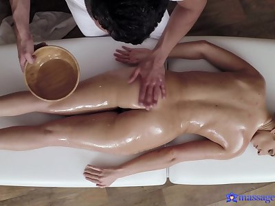 Nice massage leads to passionate fucking with sexy model Lara