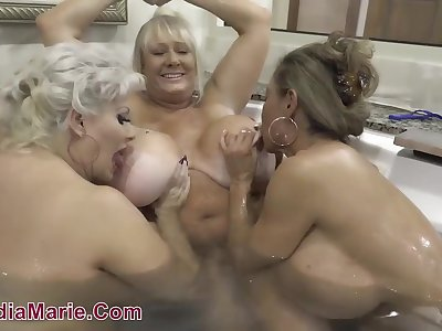 Best Huge Melons Threesome Sex - Minka, Kayla and Claudia Marie