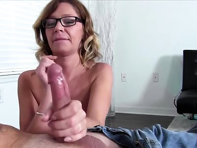Nadia Night showing their way handjob talent