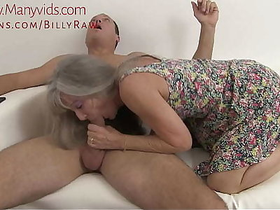 Granny Throw one's weight around be in control Grandson Observing Porn-Leilani Lei