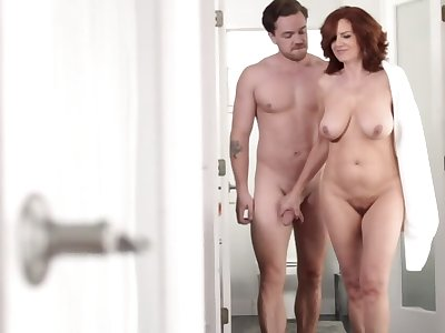 Mature with red hair finds a guy to fulfill her voluptuous fantasy